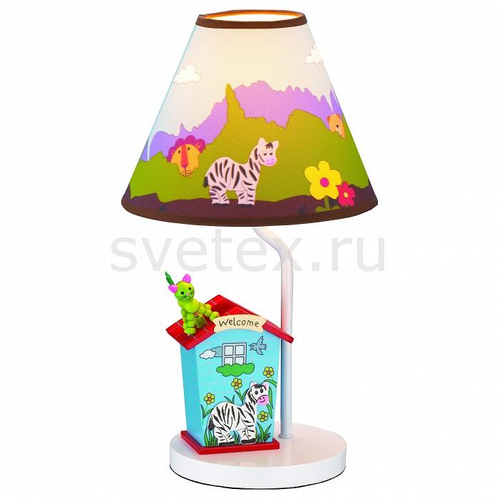 Настольная лампа ST-LuceС абажуром<br>Артикул - SL806.504.01,Бренд - ST-Luce (Италия),Коллекция - 806,Гарантия, месяцы - 24,Высота, мм - 400,Диаметр, мм - 210,Размер упаковки, мм - 460x460x635,Тип лампы - компактная люминесцентная [КЛЛ] ИЛИнакаливания ИЛИсветодиодная [LED],Общее кол-во ламп - 1,Напряжение питания лампы, В - 220,Максимальная мощность лампы, Вт - 40,Лампы в комплекте - отсутствуют,Цвет плафонов и подвесок - цветной рисунок,Тип поверхности плафонов - матовый,Материал плафонов и подвесок - текстиль,Цвет арматуры - белый с цветным рисунком,Тип поверхности арматуры - матовый,Материал арматуры - металл,Количество плафонов - 1,Наличие выключателя, диммера или пульта ДУ - выключатель на проводе,Компоненты, входящие в комплект - провод электропитания с вилкой без заземления,Тип цоколя лампы - E27,Класс электробезопасности - II,Степень пылевлагозащиты, IP - 20,Диапазон рабочих температур - комнатная температура<br>