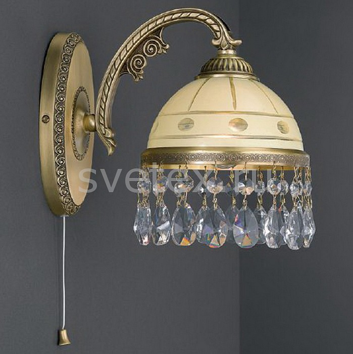 Бра Reccagni AngeloНастенные светильники<br>Артикул - RA_A_7003_1,Бренд - Reccagni Angelo (Италия),Коллекция - 7003,Гарантия, месяцы - 24,Высота, мм - 210,Выступ, мм - 250,Тип лампы - компактная люминесцентная [КЛЛ] ИЛИнакаливания ИЛИсветодиодная [LED],Общее кол-во ламп - 1,Напряжение питания лампы, В - 220,Максимальная мощность лампы, Вт - 60,Лампы в комплекте - отсутствуют,Цвет плафонов и подвесок - кремовый с рисунком и с каймой, неокрашенный,Тип поверхности плафонов - матовый, прозрачный,Материал плафонов и подвесок - стекло, хрусталь,Цвет арматуры - бронза состаренная,Тип поверхности арматуры - матовый, рельефный,Материал арматуры - латунь,Количество плафонов - 1,Наличие выключателя, диммера или пульта ДУ - выключатель шнуровой,Возможность подлючения диммера - можно, если установить лампу накаливания,Тип цоколя лампы - E27,Класс электробезопасности - I,Степень пылевлагозащиты, IP - 20,Диапазон рабочих температур - комнатная температура,Дополнительные параметры - способ крепления светильника на стене – на монтажной пластине, светильник предназначен для использования со скрытой проводкой<br>