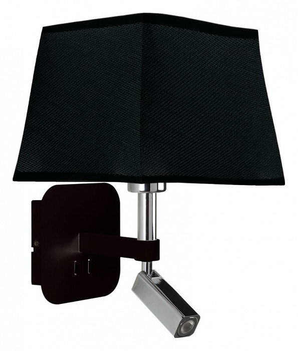 Бра с подсветкой MantraСветодиодные<br>Артикул - MN_5317_5240,Бренд - Mantra (Испания),Коллекция - Habana,Гарантия, месяцы - 24,Ширина, мм - 200,Высота, мм - 366,Выступ, мм - 235,Тип лампы - компактная люминесцентная [КЛЛ] ИЛИсветодиодная [LED],Общее кол-во ламп - 2,Напряжение питания лампы, В - 220,Максимальная мощность лампы, Вт - 3, 13,Цвет лампы - белый теплый,Лампы в комплекте - светодиодные [LED],Цвет плафонов и подвесок - черный,Тип поверхности плафонов - матовый,Материал плафонов и подвесок - текстиль,Цвет арматуры - черный, хром,Тип поверхности арматуры - глянцевый, матовый,Материал арматуры - металл,Количество плафонов - 1,Наличие выключателя, диммера или пульта ДУ - выключатель,Тип цоколя лампы - E27,Цветовая температура, K - 3000 K,Световой поток, лм - 200,Экономичнее лампы накаливания - в 2.6 раза,Светоотдача, лм/Вт - 25,Класс электробезопасности - II,Общая мощность, Вт - 16,Степень пылевлагозащиты, IP - 20,Диапазон рабочих температур - комнатная температура,Дополнительные параметры - способ крепления светильника на стене – на монтажной пластине, светильник предназначен для использования со скрытой проводкой, поворотный светильник<br>