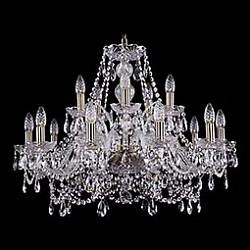 Подвесная люстра Bohemia Ivele CrystalБолее 6 ламп<br>Артикул - BI_1411_10_5_240_Pa,Бренд - Bohemia Ivele Crystal (Чехия),Коллекция - 1411,Гарантия, месяцы - 24,Высота, мм - 530,Диаметр, мм - 670,Размер упаковки, мм - 510x510x200,Тип лампы - компактная люминесцентная [КЛЛ] ИЛИнакаливания ИЛИсветодиодная [LED],Общее кол-во ламп - 15,Напряжение питания лампы, В - 220,Максимальная мощность лампы, Вт - 40,Лампы в комплекте - отсутствуют,Цвет плафонов и подвесок - неокрашенный,Тип поверхности плафонов - прозрачный,Материал плафонов и подвесок - хрусталь,Цвет арматуры - золото с патиной, неокрашенный,Тип поверхности арматуры - глянцевый, прозрачный, рельефный,Материал арматуры - металл, стекло,Возможность подлючения диммера - можно, если установить лампу накаливания,Форма и тип колбы - свеча ИЛИ свеча на ветру,Тип цоколя лампы - E14,Класс электробезопасности - I,Общая мощность, Вт - 600,Степень пылевлагозащиты, IP - 20,Диапазон рабочих температур - комнатная температура,Дополнительные параметры - способ крепления светильника к потолку - на крюке, указана высота светильника без подвеса<br>