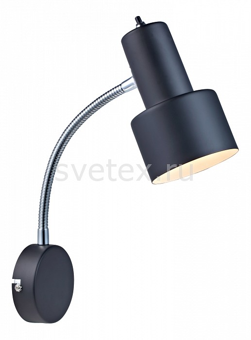 Бра markslojdБра<br>Артикул - ML_104610,Бренд - markslojd (Швеция),Коллекция - Glommen,Гарантия, месяцы - 24,Ширина, мм - 100,Высота, мм - 360,Выступ, мм - 230,Размер упаковки, мм - 195x465x350,Тип лампы - компактная люминесцентная [КЛЛ] ИЛИнакаливания ИЛИсветодиодная [LED],Общее кол-во ламп - 1,Напряжение питания лампы, В - 220,Максимальная мощность лампы, Вт - 40,Лампы в комплекте - отсутствуют,Цвет плафонов и подвесок - черный,Тип поверхности плафонов - матовый,Материал плафонов и подвесок - металл,Цвет арматуры - черный, хром,Тип поверхности арматуры - глянцевый, матовый,Материал арматуры - металл,Количество плафонов - 1,Возможность подлючения диммера - можно, если установить лампу накаливания,Тип цоколя лампы - E14,Класс электробезопасности - I,Степень пылевлагозащиты, IP - 20,Диапазон рабочих температур - комнатная температура,Дополнительные параметры - способ крепления светильника к стене  – на монтажной пластине, светильник предназначен для использования со скрытой проводкой, поворотный светильник<br>