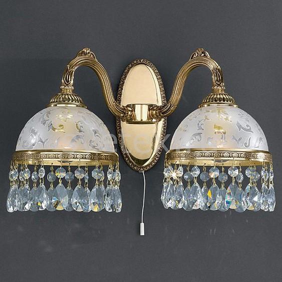 Бра Reccagni AngeloНастенные светильники<br>Артикул - RA_A_6300_2,Бренд - Reccagni Angelo (Италия),Коллекция - 6300,Гарантия, месяцы - 24,Ширина, мм - 380,Высота, мм - 210,Выступ, мм - 210,Тип лампы - компактная люминесцентная [КЛЛ] ИЛИнакаливания ИЛИсветодиодная [LED],Общее кол-во ламп - 2,Напряжение питания лампы, В - 220,Максимальная мощность лампы, Вт - 60,Лампы в комплекте - отсутствуют,Цвет плафонов и подвесок - белый с рисунком, неокрашенный,Тип поверхности плафонов - матовый, прозрачный,Материал плафонов и подвесок - стекло, хрусталь,Цвет арматуры - золото французское,Тип поверхности арматуры - глянцевый, рельефный,Материал арматуры - латунь,Количество плафонов - 2,Наличие выключателя, диммера или пульта ДУ - выключатель шнуровой,Возможность подлючения диммера - можно, если установить лампу накаливания,Тип цоколя лампы - E27,Класс электробезопасности - I,Общая мощность, Вт - 120,Степень пылевлагозащиты, IP - 20,Диапазон рабочих температур - комнатная температура,Дополнительные параметры - способ крепления светильника на стене – на монтажной пластине, светильник предназначен для использования со скрытой проводкой<br>