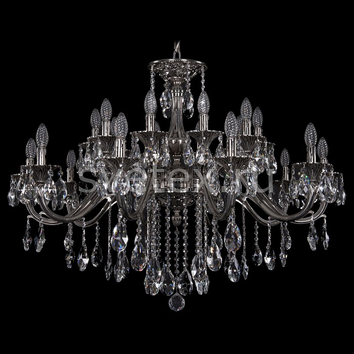 Подвесная люстра Bohemia Ivele CrystalБолее 6 ламп<br>Артикул - BI_1703_20_360_B_NB,Бренд - Bohemia Ivele Crystal (Чехия),Коллекция - 1703,Гарантия, месяцы - 24,Высота, мм - 650,Диаметр, мм - 1040,Размер упаковки, мм - 710x710x250,Тип лампы - компактная люминесцентная [КЛЛ] ИЛИнакаливания ИЛИсветодиодная [LED],Общее кол-во ламп - 20,Напряжение питания лампы, В - 220,Максимальная мощность лампы, Вт - 40,Лампы в комплекте - отсутствуют,Цвет плафонов и подвесок - неокрашенный,Тип поверхности плафонов - прозрачный,Материал плафонов и подвесок - хрусталь,Цвет арматуры - никель черненый,Тип поверхности арматуры - глянцевый, рельефный,Материал арматуры - латунь,Возможность подлючения диммера - можно, если установить лампу накаливания,Форма и тип колбы - свеча ИЛИ свеча на ветру,Тип цоколя лампы - E14,Класс электробезопасности - I,Общая мощность, Вт - 800,Степень пылевлагозащиты, IP - 20,Диапазон рабочих температур - комнатная температура,Дополнительные параметры - способ крепления светильника к потолку - на крюке, указана высота светильника без подвеса<br>