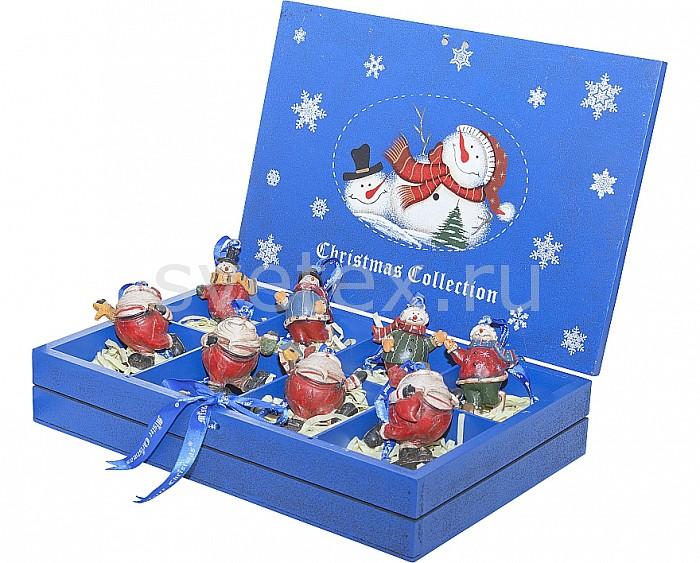 Снеговик Mister ChristmasСнеговики<br>Артикул - MC_LH-F3-SET_8,Бренд - Mister Christmas (Россия),Коллекция - LH-F3,Высота, мм - 90,Высота - 9 см,Размер упаковки, мм - 6.5х32х22.5 см,Цвет - разноцветный,Материал - полистоун<br>