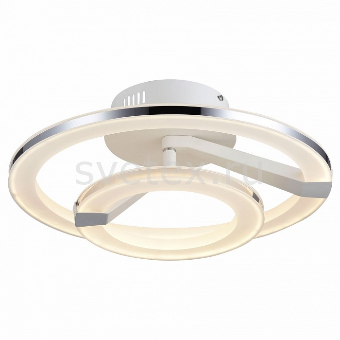 Накладной светильник ST-LuceКруглые<br>Артикул - SL868.502.02,Бренд - ST-Luce (Китай),Коллекция - SL868,Гарантия, месяцы - 24,Время изготовления, дней - 1,Высота, мм - 195,Диаметр, мм - 480,Размер упаковки, мм - 530х530х225,Тип лампы - светодиодная [LED],Общее кол-во ламп - 2,Напряжение питания лампы, В - 220,Максимальная мощность лампы, Вт - 20, 33.9,Цвет лампы - белый,Лампы в комплекте - светодиодные [LED],Цвет плафонов и подвесок - белый, хром,Тип поверхности плафонов - глянцевый, матовый,Материал плафонов и подвесок - акрил, металл,Цвет арматуры - белый,Тип поверхности арматуры - матовый,Материал арматуры - металл,Количество плафонов - 1,Возможность подлючения диммера - нельзя,Цветовая температура, K - 4000 K,Экономичнее лампы накаливания - в 10 раз,Класс электробезопасности - I,Общая мощность, Вт - 53,Степень пылевлагозащиты, IP - 20,Диапазон рабочих температур - комнатная температура,Дополнительные параметры - способ крепления светильника к потолку - на монтажной пластине<br>
