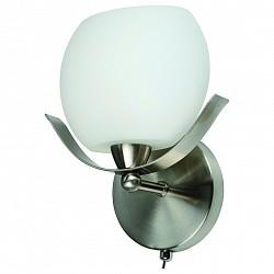 Бра IDLampС 1 лампой<br>Артикул - ID_601_1a-SUNwhitechrome,Бренд - IDLamp (Италия),Коллекция - 601,Гарантия, месяцы - 24,Время изготовления, дней - 1,Высота, мм - 220,Тип лампы - компактная люминесцентная [КЛЛ] ИЛИнакаливания ИЛИсветодиодная [LED],Общее кол-во ламп - 1,Напряжение питания лампы, В - 220,Максимальная мощность лампы, Вт - 60,Лампы в комплекте - отсутствуют,Цвет плафонов и подвесок - белый,Тип поверхности плафонов - матовый,Материал плафонов и подвесок - стекло,Цвет арматуры - никель,Тип поверхности арматуры - глянцевый,Материал арматуры - металл,Возможность подлючения диммера - можно, если установить лампу накаливания,Тип цоколя лампы - E14,Класс электробезопасности - I,Степень пылевлагозащиты, IP - 20,Диапазон рабочих температур - комнатная температура,Дополнительные параметры - светильник предназначен для использования со скрытой проводкой<br>