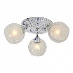 Спот IDLampС 3 лампами<br>Артикул - ID_876_3PF-Whiteblue,Бренд - IDLamp (Италия),Коллекция - 876,Гарантия, месяцы - 24,Диаметр, мм - 480,Тип лампы - компактная люминесцентная [КЛЛ] ИЛИнакаливания ИЛИсветодиодная [LED],Общее кол-во ламп - 3,Напряжение питания лампы, В - 220,Максимальная мощность лампы, Вт - 60,Лампы в комплекте - отсутствуют,Цвет плафонов и подвесок - белый, неокрашенный,Тип поверхности плафонов - матовый, прозрачный, рельефный,Материал плафонов и подвесок - стекло,Цвет арматуры - белый с голубым рисунком,Тип поверхности арматуры - матовый,Материал арматуры - металл,Возможность подлючения диммера - можно, если установить лампу накаливания,Тип цоколя лампы - E27,Общая мощность, Вт - 180,Степень пылевлагозащиты, IP - 20,Диапазон рабочих температур - комнатная температура,Дополнительные параметры - поворотный светильник<br>