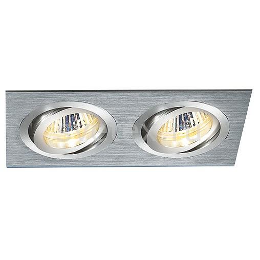 Встраиваемый светильник ElektrostandardСветильники<br>Артикул - ELK_a029903,Бренд - Elektrostandard (Россия),Коллекция - 1011,Гарантия, месяцы - 24,Длина, мм - 173,Ширина, мм - 93,Высота, мм - 29,Выступ, мм - 3,Глубина, мм - 26,Размер врезного отверстия, мм - 162x80,Тип лампы - галогеновая ИЛИсветодиодная [LED],Общее кол-во ламп - 2,Напряжение питания лампы, В - 220,Максимальная мощность лампы, Вт - 50,Лампы в комплекте - отсутствуют,Цвет арматуры - серый,Тип поверхности арматуры - матовый,Материал арматуры - дюралюминий,Компоненты, входящие в комплект - рефлектор,Форма и тип колбы - пальчиковая,Тип цоколя лампы - G5.3,Класс электробезопасности - I,Общая мощность, Вт - 100,Степень пылевлагозащиты, IP - 20,Диапазон рабочих температур - комнатная температура,Дополнительные параметры - поворотный светильник<br>