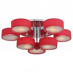 Потолочная люстра ST-LuceПолимерные плафоны<br>Артикул - SL483.602.09,Бренд - ST-Luce (Китай),Коллекция - Foresta,Гарантия, месяцы - 24,Высота, мм - 300,Диаметр, мм - 1000,Размер упаковки, мм - 760x760x140,Тип лампы - компактная люминесцентная [КЛЛ] ИЛИнакаливания ИЛИсветодиодная [LED],Общее кол-во ламп - 9,Напряжение питания лампы, В - 220,Максимальная мощность лампы, Вт - 60,Лампы в комплекте - отсутствуют,Цвет плафонов и подвесок - красный, неокрашенный,Тип поверхности плафонов - матовый, прозрачный,Материал плафонов и подвесок - акрил, стекло,Цвет арматуры - хром,Тип поверхности арматуры - глянцевый,Материал арматуры - металл,Возможность подлючения диммера - можно, если установить лампу накаливания,Тип цоколя лампы - E27,Класс электробезопасности - I,Общая мощность, Вт - 540,Степень пылевлагозащиты, IP - 20,Диапазон рабочих температур - комнатная температура,Дополнительные параметры - способ крепления светильника к потолку - на монтажной пластине<br>