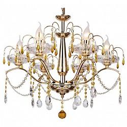 Подвесная люстра IDLamp5 или 6 ламп<br>Артикул - ID_258_6-Gold,Бренд - IDLamp (Италия),Коллекция - 258,Гарантия, месяцы - 24,Время изготовления, дней - 1,Высота, мм - 520,Диаметр, мм - 600,Тип лампы - компактная люминесцентная [КЛЛ] ИЛИнакаливания ИЛИсветодиодная [LED],Общее кол-во ламп - 6,Напряжение питания лампы, В - 220,Максимальная мощность лампы, Вт - 60,Лампы в комплекте - отсутствуют,Цвет плафонов и подвесок - неокрашенный, янтарный,Тип поверхности плафонов - прозрачный,Материал плафонов и подвесок - хрусталь,Цвет арматуры - золото,Тип поверхности арматуры - глянцевый,Материал арматуры - металл,Возможность подлючения диммера - можно, если установить лампу накаливания,Тип цоколя лампы - E14,Класс электробезопасности - I,Общая мощность, Вт - 360,Степень пылевлагозащиты, IP - 20,Диапазон рабочих температур - комнатная температура<br>