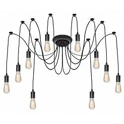 Подвесной светильник Loft itСветодиодные<br>Артикул - LF_LOFT1162_10,Бренд - Loft it (Испания),Коллекция - 1162,Гарантия, месяцы - 24,Высота, мм - 2000,Тип лампы - компактная люминесцентная [КЛЛ] ИЛИнакаливания ИЛИсветодиодная [LED],Общее кол-во ламп - 10,Напряжение питания лампы, В - 220,Максимальная мощность лампы, Вт - 40,Лампы в комплекте - отсутствуют,Цвет арматуры - черный,Тип поверхности арматуры - матовый,Материал арматуры - металл,Возможность подлючения диммера - можно, если установить лампу накаливания,Тип цоколя лампы - E27,Класс электробезопасности - I,Общая мощность, Вт - 400,Степень пылевлагозащиты, IP - 20,Диапазон рабочих температур - комнатная температура,Дополнительные параметры - способ крепления светильника к потолку – на монтажной пластине<br>