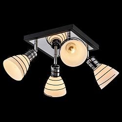 Спот EurosvetС 4 лампами<br>Артикул - EV_76516,Бренд - Eurosvet (Китай),Коллекция - Гермес,Гарантия, месяцы - 24,Тип лампы - компактная люминесцентная [КЛЛ] ИЛИнакаливания ИЛИсветодиодная [LED],Общее кол-во ламп - 4,Напряжение питания лампы, В - 220,Максимальная мощность лампы, Вт - 40,Лампы в комплекте - отсутствуют,Цвет плафонов и подвесок - белый,Тип поверхности плафонов - матовый,Материал плафонов и подвесок - стекло,Цвет арматуры - венге, хром,Тип поверхности арматуры - глянцевый, матовый,Материал арматуры - металл,Возможность подлючения диммера - можно, если установить лампу накаливания,Тип цоколя лампы - E14,Класс электробезопасности - I,Общая мощность, Вт - 160,Степень пылевлагозащиты, IP - 20,Диапазон рабочих температур - комнатная температура,Дополнительные параметры - способ крепления светильника к потолку и стене - на монтажной пластине, поворотный светильник<br>