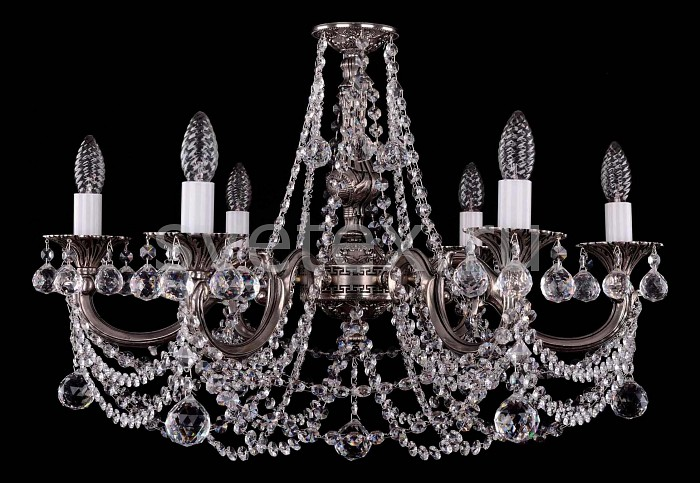 Фото Подвесная люстра Bohemia Ivele Crystal 1702 1702/6/C/NB/Balls
