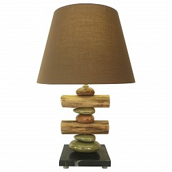 Настольная лампа декоративная ST-LuceС абажуром<br>Артикул - SL993.704.01,Бренд - ST-Luce (Китай),Коллекция - Tabella,Гарантия, месяцы - 24,Высота, мм - 560,Размер упаковки, мм - 410х410х460; 360х360х360,Тип лампы - компактная люминесцентная [КЛЛ] ИЛИнакаливания ИЛИсветодиодная [LED],Общее кол-во ламп - 1,Напряжение питания лампы, В - 220,Максимальная мощность лампы, Вт - 60,Лампы в комплекте - отсутствуют,Цвет плафонов и подвесок - коричневый,Тип поверхности плафонов - матовый,Материал плафонов и подвесок - текстиль,Цвет арматуры - зеленый, коричневый, черный,Тип поверхности арматуры - глянцевый, матовый,Материал арматуры - дерево, керамика, металл, мрамор,Тип цоколя лампы - E27,Класс электробезопасности - II,Степень пылевлагозащиты, IP - 20,Диапазон рабочих температур - комнатная температура<br>