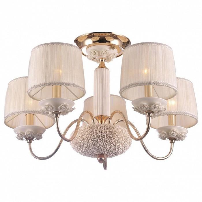 Люстра на штанге Crystal LuxСветильники<br>Артикул - CU_1020_105,Бренд - Crystal Lux (Испания),Коллекция - Adagio,Гарантия, месяцы - 24,Высота, мм - 420,Диаметр, мм - 635,Тип лампы - компактная люминесцентная [КЛЛ] ИЛИнакаливания ИЛИсветодиодная [LED],Общее кол-во ламп - 5,Напряжение питания лампы, В - 220,Максимальная мощность лампы, Вт - 60,Лампы в комплекте - отсутствуют,Цвет плафонов и подвесок - белый,Тип поверхности плафонов - матовый, рельефный,Материал плафонов и подвесок - текстиль,Цвет арматуры - белый, золото,Тип поверхности арматуры - глянцевый, матовый, рельефный,Материал арматуры - керамика, металл,Количество плафонов - 5,Возможность подлючения диммера - можно, если установить лампу накаливания,Тип цоколя лампы - E14,Класс электробезопасности - I,Общая мощность, Вт - 300,Степень пылевлагозащиты, IP - 20,Диапазон рабочих температур - комнатная температура,Дополнительные параметры - способ крепления светильника к потолку - на монтажной пластине, светильник декорирован цветами из керамики, диаметр основания 185 мм<br>