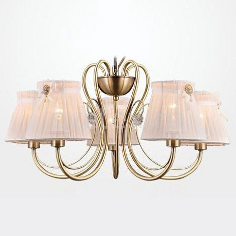 Подвесная люстра EurosvetСветильники<br>Артикул - EV_78636,Бренд - Eurosvet (Китай),Коллекция - 60039,Гарантия, месяцы - 24,Высота, мм - 290,Диаметр, мм - 600,Тип лампы - компактная люминесцентная [КЛЛ] ИЛИнакаливания ИЛИсветодиодная [LED],Общее кол-во ламп - 5,Напряжение питания лампы, В - 220,Максимальная мощность лампы, Вт - 40,Лампы в комплекте - отсутствуют,Цвет плафонов и подвесок - бежевый,Тип поверхности плафонов - матовый,Материал плафонов и подвесок - текстиль,Цвет арматуры - бронза античная,Тип поверхности арматуры - матовый,Материал арматуры - металл,Количество плафонов - 5,Возможность подлючения диммера - можно, если установить лампу накаливания,Тип цоколя лампы - E14,Класс электробезопасности - I,Общая мощность, Вт - 200,Степень пылевлагозащиты, IP - 20,Диапазон рабочих температур - комнатная температура,Дополнительные параметры - способ крепления светильника к потолку - на крюке, указана высота светильника без подвеса<br>