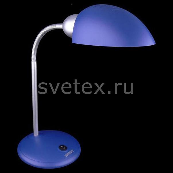 Настольная лампа EurosvetСветильники<br>Артикул - EV_45684,Бренд - Eurosvet (Китай),Коллекция - 1926,Гарантия, месяцы - 24,Ширина, мм - 180,Высота, мм - 660,Выступ, мм - 180,Тип лампы - компактная люминесцентная [КЛЛ] ИЛИсветодиодная [LED],Общее кол-во ламп - 1,Напряжение питания лампы, В - 220,Максимальная мощность лампы, Вт - 15,Лампы в комплекте - отсутствуют,Цвет плафонов и подвесок - синий,Тип поверхности плафонов - матовый,Материал плафонов и подвесок - полимер,Цвет арматуры - синий, хром,Тип поверхности арматуры - глянцевый, матовый,Материал арматуры - металл, полимер,Количество плафонов - 1,Наличие выключателя, диммера или пульта ДУ - выключатель,Компоненты, входящие в комплект - провод электропитания с вилкой без заземления,Тип цоколя лампы - E27,Класс электробезопасности - II,Степень пылевлагозащиты, IP - 20,Диапазон рабочих температур - комнатная температура,Дополнительные параметры - поворотный светильник<br>