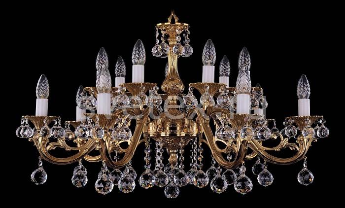 Фото Подвесная люстра Bohemia Ivele Crystal 1703 1703/14/A/G/Balls