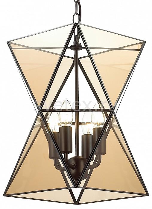 Подвесной светильник FavouriteСветодиодные<br>Артикул - FV_1920-4P,Бренд - Favourite (Германия),Коллекция - Polihedron,Гарантия, месяцы - 24,Высота, мм - 405-1190,Диаметр, мм - 350,Тип лампы - компактная люминесцентная [КЛЛ] ИЛИнакаливания ИЛИсветодиодная [LED],Общее кол-во ламп - 4,Напряжение питания лампы, В - 220,Максимальная мощность лампы, Вт - 40,Лампы в комплекте - отсутствуют,Цвет плафонов и подвесок - коньяный, неокрашенный,Тип поверхности плафонов - прозрачный,Материал плафонов и подвесок - стекло,Цвет арматуры - черный,Тип поверхности арматуры - матовый,Материал арматуры - металл,Количество плафонов - 1,Возможность подлючения диммера - можно, если установить лампу накаливания,Тип цоколя лампы - E14,Класс электробезопасности - I,Общая мощность, Вт - 160,Степень пылевлагозащиты, IP - 20,Диапазон рабочих температур - комнатная температура,Дополнительные параметры - способ крепления светильника к потолку - на монтажной пластине, регулируется по высоте, стиль Тиффани<br>