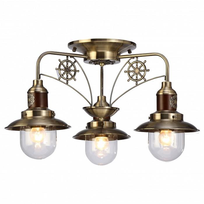 Потолочная люстра Arte LampДеревянные<br>Артикул - AR_A4524PL-3AB,Бренд - Arte Lamp (Италия),Коллекция - Sailor,Гарантия, месяцы - 24,Высота, мм - 340,Диаметр, мм - 600,Размер упаковки, мм - 430x430x200,Тип лампы - компактная люминесцентная [КЛЛ] ИЛИнакаливания ИЛИсветодиодная [LED],Общее кол-во ламп - 3,Напряжение питания лампы, В - 220,Максимальная мощность лампы, Вт - 60,Лампы в комплекте - отсутствуют,Цвет плафонов и подвесок - неокрашенный,Тип поверхности плафонов - прозрачный,Материал плафонов и подвесок - стекло,Цвет арматуры - бронза античная, коричневый,Тип поверхности арматуры - матовый, глянцевый,Материал арматуры - дерево, металл,Количество плафонов - 3,Возможность подлючения диммера - можно, если установить лампу накаливания,Тип цоколя лампы - E27,Класс электробезопасности - I,Общая мощность, Вт - 180,Степень пылевлагозащиты, IP - 20,Диапазон рабочих температур - комнатная температура,Дополнительные параметры - способ крепления светильника к потолку – на монтажной пластине<br>