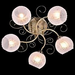 Потолочная люстра Eurosvet5 или 6 ламп<br>Артикул - EV_76590,Бренд - Eurosvet (Китай),Коллекция - Элегия,Гарантия, месяцы - 24,Высота, мм - 230,Диаметр, мм - 550,Тип лампы - компактная люминесцентная [КЛЛ] ИЛИнакаливания ИЛИсветодиодная [LED],Общее кол-во ламп - 5,Напряжение питания лампы, В - 220,Максимальная мощность лампы, Вт - 60,Лампы в комплекте - отсутствуют,Цвет плафонов и подвесок - белый с неокрашенным рисунком,Тип поверхности плафонов - матовый,Материал плафонов и подвесок - стекло,Цвет арматуры - бронза античная,Тип поверхности арматуры - матовый,Материал арматуры - металл,Возможность подлючения диммера - можно, если установить лампу накаливания,Тип цоколя лампы - E27,Класс электробезопасности - I,Общая мощность, Вт - 300,Степень пылевлагозащиты, IP - 20,Диапазон рабочих температур - комнатная температура,Дополнительные параметры - способ крепления светильника к потолку - на монтажной пластине<br>
