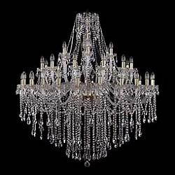 Подвесная люстра Bohemia Ivele CrystalБолее 6 ламп<br>Артикул - BI_1415_24_12_6_460_140_G,Бренд - Bohemia Ivele Crystal (Чехия),Коллекция - 1415,Гарантия, месяцы - 24,Высота, мм - 1400,Диаметр, мм - 1340,Размер упаковки, мм - 710x710x360,Тип лампы - компактная люминесцентная [КЛЛ] ИЛИнакаливания ИЛИсветодиодная [LED],Общее кол-во ламп - 42,Напряжение питания лампы, В - 220,Максимальная мощность лампы, Вт - 40,Лампы в комплекте - отсутствуют,Цвет плафонов и подвесок - неокрашенный,Тип поверхности плафонов - прозрачный,Материал плафонов и подвесок - хрусталь,Цвет арматуры - золото, неокрашенный,Тип поверхности арматуры - глянцевый, прозрачный, рельефный,Материал арматуры - металл, стекло,Возможность подлючения диммера - можно, если установить лампу накаливания,Форма и тип колбы - свеча ИЛИ свеча на ветру,Тип цоколя лампы - E14,Класс электробезопасности - I,Общая мощность, Вт - 1680,Степень пылевлагозащиты, IP - 20,Диапазон рабочих температур - комнатная температура,Дополнительные параметры - способ крепления светильника к потолку - на крюке, указана высота светильника без подвеса<br>