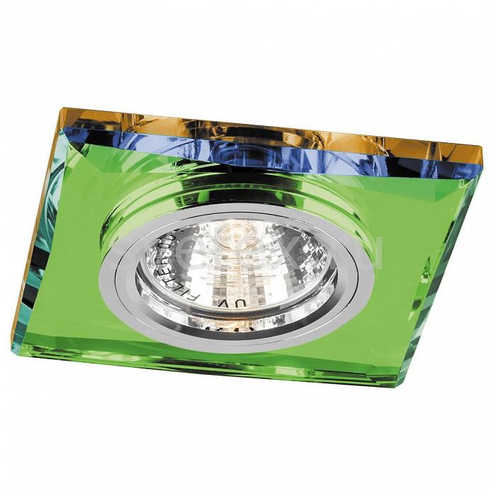 Встраиваемый светильник FeronСветильники для натяжных потолков<br>Артикул - FE_18639,Бренд - Feron (Китай),Коллекция - 8150-2,Гарантия, месяцы - 24,Длина, мм - 95,Ширина, мм - 95,Глубина, мм - 23,Размер врезного отверстия, мм - 60,Тип лампы - галогеновая ИЛИсветодиодная [LED],Общее кол-во ламп - 1,Напряжение питания лампы, В - 12,Максимальная мощность лампы, Вт - 50,Лампы в комплекте - отсутствуют,Цвет арматуры - разноцветный, хром,Тип поверхности арматуры - глянцевый, прозрачный,Материал арматуры - металл, стекло,Возможность подлючения диммера - можно, если установить галогеновую лампу,Необходимые компоненты - трансформатор 12В,Компоненты, входящие в комплект - нет,Форма и тип колбы - полусферическая с рефлектором,Тип цоколя лампы - GU5.3,Класс электробезопасности - I,Напряжение питания, В - 220,Степень пылевлагозащиты, IP - 20,Диапазон рабочих температур - комнатная температура<br>