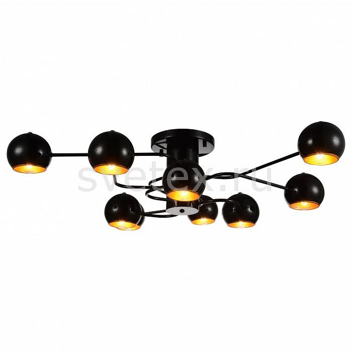 Потолочная люстра ST-LuceСветильники<br>Артикул - SL854.242.09,Бренд - ST-Luce (Китай),Коллекция - SL854,Гарантия, месяцы - 24,Время изготовления, дней - 1,Длина, мм - 900,Ширина, мм - 935,Высота, мм - 230,Размер упаковки, мм - 910х910х300,Тип лампы - компактная люминесцентная [КЛЛ] ИЛИнакаливания ИЛИсветодиодная [LED],Общее кол-во ламп - 9,Напряжение питания лампы, В - 220,Максимальная мощность лампы, Вт - 40,Лампы в комплекте - отсутствуют,Цвет плафонов и подвесок - золото, черный,Тип поверхности плафонов - глянцевый,Материал плафонов и подвесок - металл,Цвет арматуры - черный,Тип поверхности арматуры - глянцевый,Материал арматуры - металл,Количество плафонов - 9,Возможность подлючения диммера - можно, если установить лампу накаливания,Тип цоколя лампы - E14,Класс электробезопасности - I,Общая мощность, Вт - 360,Степень пылевлагозащиты, IP - 20,Диапазон рабочих температур - комнатная температура,Дополнительные параметры - способ крепления светильника к потолку – на монтажной пластине<br>