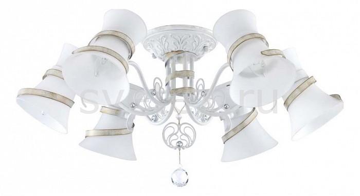 Потолочная люстра MaytoniЛюстры<br>Артикул - MY_TOC128-06-W,Бренд - Maytoni (Германия),Коллекция - Baroque,Гарантия, месяцы - 24,Высота, мм - 330,Диаметр, мм - 760,Размер упаковки, мм - 720x720x250,Тип лампы - компактная люминесцентная [КЛЛ] ИЛИнакаливания ИЛИсветодиодная [LED],Общее кол-во ламп - 6,Напряжение питания лампы, В - 220,Максимальная мощность лампы, Вт - 60,Лампы в комплекте - отсутствуют,Цвет плафонов и подвесок - белый,Тип поверхности плафонов - матовый,Материал плафонов и подвесок - стекло,Цвет арматуры - белый с золотой патиной,Тип поверхности арматуры - матовый, рельефный,Материал арматуры - металл,Количество плафонов - 6,Возможность подлючения диммера - можно, если установить лампу накаливания,Тип цоколя лампы - E14,Класс электробезопасности - I,Общая мощность, Вт - 360,Степень пылевлагозащиты, IP - 20,Диапазон рабочих температур - комнатная температура,Дополнительные параметры - способ крепления светильника к потолку - на монтажной пластине<br>