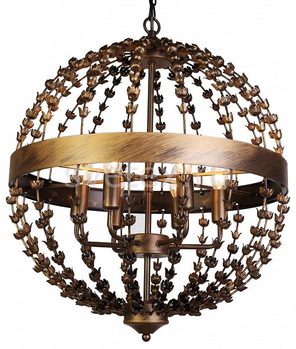 Подвесной светильник FavouriteСветодиодные<br>Артикул - FV_1889-6P,Бренд - Favourite (Германия),Коллекция - Blumen-Kugel,Гарантия, месяцы - 24,Высота, мм - 610-1610,Диаметр, мм - 520,Тип лампы - компактная люминесцентная [КЛЛ] ИЛИнакаливания ИЛИсветодиодная [LED],Общее кол-во ламп - 6,Напряжение питания лампы, В - 220,Максимальная мощность лампы, Вт - 40,Лампы в комплекте - отсутствуют,Цвет арматуры - коричневый с золотой патиной,Тип поверхности арматуры - глянцевый,Материал арматуры - металл,Возможность подлючения диммера - можно, если установить лампу накаливания,Тип цоколя лампы - E14,Класс электробезопасности - I,Общая мощность, Вт - 240,Степень пылевлагозащиты, IP - 20,Диапазон рабочих температур - комнатная температура,Дополнительные параметры - способ крепления светильника к потолку - на монтажной пластине, регулируется по высоте<br>