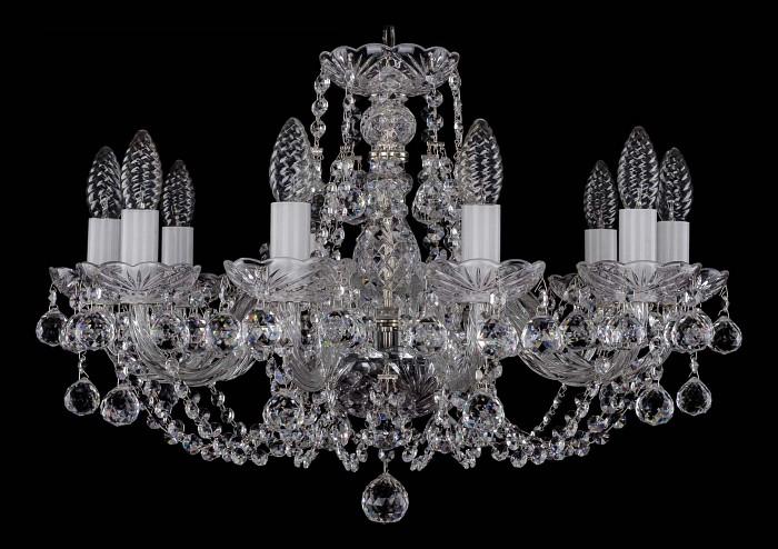 Фото Подвесная люстра Bohemia Ivele Crystal 1406 1406/10/195/Ni/Balls