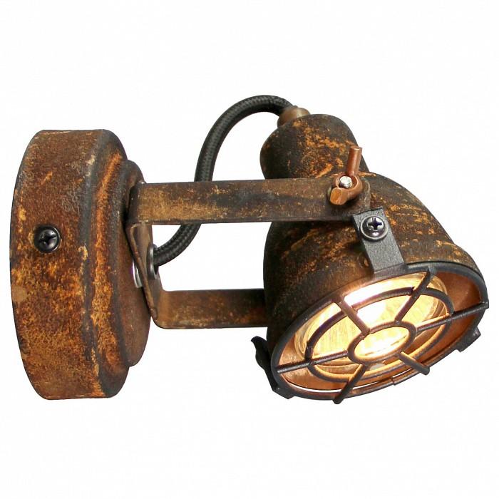 Спот LussoleСпоты<br>Артикул - LSP-9802,Бренд - Lussole (Италия),Коллекция - Sindy,Гарантия, месяцы - 24,Длина, мм - 100,Ширина, мм - 90,Выступ, мм - 140,Тип лампы - галогеновая ИЛИсветодиодная [LED],Общее кол-во ламп - 1,Напряжение питания лампы, В - 220,Максимальная мощность лампы, Вт - 50,Лампы в комплекте - отсутствуют,Цвет плафонов и подвесок - под ржавчину,Тип поверхности плафонов - матовый,Материал плафонов и подвесок - металл,Цвет арматуры - под ржавчину,Тип поверхности арматуры - матовый,Материал арматуры - металл,Количество плафонов - 1,Возможность подлючения диммера - можно, если установить галогеновую лампу,Форма и тип колбы - полусферическая с рефлектором,Тип цоколя лампы - GU10,Класс электробезопасности - I,Степень пылевлагозащиты, IP - 20,Диапазон рабочих температур - комнатная температура,Дополнительные параметры - способ крепления светильника к потолку и стене - на монтажной пластине, поворотный светильник<br>