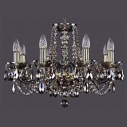 Подвесная люстра Bohemia Ivele CrystalБолее 6 ламп<br>Артикул - BI_1402_8_195_G_M731,Бренд - Bohemia Ivele Crystal (Чехия),Коллекция - 1402,Гарантия, месяцы - 24,Высота, мм - 400,Диаметр, мм - 570,Размер упаковки, мм - 450x450x200,Тип лампы - компактная люминесцентная [КЛЛ] ИЛИнакаливания ИЛИсветодиодная [LED],Общее кол-во ламп - 8,Напряжение питания лампы, В - 220,Максимальная мощность лампы, Вт - 40,Лампы в комплекте - отсутствуют,Цвет плафонов и подвесок - дымчатый светлый,Тип поверхности плафонов - прозрачный,Материал плафонов и подвесок - хрусталь,Цвет арматуры - дымчатый светлый, золото,Тип поверхности арматуры - глянцевый, прозрачный, рельефный,Материал арматуры - металл, стекло,Возможность подлючения диммера - можно, если установить лампу накаливания,Форма и тип колбы - свеча ИЛИ свеча на ветру,Тип цоколя лампы - E14,Класс электробезопасности - I,Общая мощность, Вт - 320,Степень пылевлагозащиты, IP - 20,Диапазон рабочих температур - комнатная температура,Дополнительные параметры - способ крепления светильника к потолку - на крюке, указана высота светильника без подвеса<br>