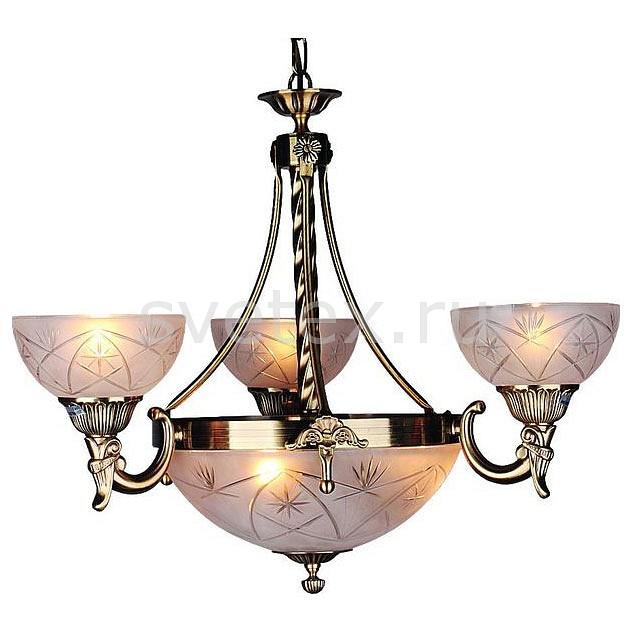 Подвесная люстра OmniluxЛюстры<br>Артикул - OM_OML-35023-06,Бренд - Omnilux (Италия),Коллекция - OM-350,Гарантия, месяцы - 24,Время изготовления, дней - 1,Высота, мм - 900,Диаметр, мм - 600,Тип лампы - компактная люминесцентная [КЛЛ] ИЛИнакаливания ИЛИсветодиодная [LED],Общее кол-во ламп - 6,Напряжение питания лампы, В - 220,Максимальная мощность лампы, Вт - 60,Лампы в комплекте - отсутствуют,Цвет плафонов и подвесок - белый с рисунком,Тип поверхности плафонов - матовый, рельефный,Материал плафонов и подвесок - стекло,Цвет арматуры - бронза античная,Тип поверхности арматуры - глянцевый,Материал арматуры - металл,Количество плафонов - 4,Возможность подлючения диммера - можно, если установить лампу накаливания,Тип цоколя лампы - E27,Класс электробезопасности - I,Общая мощность, Вт - 360,Степень пылевлагозащиты, IP - 20,Диапазон рабочих температур - комнатная температура<br>