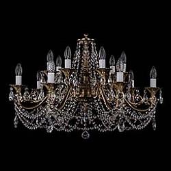 Подвесная люстра Bohemia Ivele CrystalБолее 6 ламп<br>Артикул - BI_1703_14_C_FP,Бренд - Bohemia Ivele Crystal (Чехия),Коллекция - 1703,Гарантия, месяцы - 12,Высота, мм - 550,Диаметр, мм - 850,Размер упаковки, мм - 710x710x240,Тип лампы - компактная люминесцентная [КЛЛ] ИЛИнакаливания ИЛИсветодиодная [LED],Общее кол-во ламп - 14,Напряжение питания лампы, В - 220,Максимальная мощность лампы, Вт - 40,Лампы в комплекте - отсутствуют,Цвет плафонов и подвесок - неокрашенный,Тип поверхности плафонов - прозрачный,Материал плафонов и подвесок - хрусталь,Цвет арматуры - патина французская,Тип поверхности арматуры - глянцевый, рельефный,Материал арматуры - металл,Возможность подлючения диммера - можно, если установить лампу накаливания,Форма и тип колбы - свеча ИЛИ свеча на ветру,Тип цоколя лампы - E14,Класс электробезопасности - I,Общая мощность, Вт - 560,Степень пылевлагозащиты, IP - 20,Диапазон рабочих температур - комнатная температура,Дополнительные параметры - способ крепления светильника к потолку – на крюке<br>