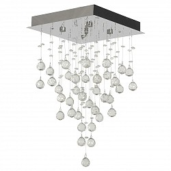 Накладной светильник Arti LampadariКвадратные<br>Артикул - AL_Flusso_H_1.4.30.615_N,Бренд - Arti Lampadari (Италия),Коллекция - Flusso,Гарантия, месяцы - 24,Высота, мм - 590,Тип лампы - галогеновая ИЛИсветодиодная [LED],Общее кол-во ламп - 4,Напряжение питания лампы, В - 220,Максимальная мощность лампы, Вт - 40,Лампы в комплекте - отсутствуют,Цвет плафонов и подвесок - неокрашенный,Тип поверхности плафонов - прозрачный,Материал плафонов и подвесок - хрусталь,Цвет арматуры - никель,Тип поверхности арматуры - глянцевый,Материал арматуры - металл,Возможность подлючения диммера - можно, если установить галогеновую лампу,Форма и тип колбы - пальчиковая,Тип цоколя лампы - G9,Класс электробезопасности - I,Общая мощность, Вт - 160,Степень пылевлагозащиты, IP - 20,Диапазон рабочих температур - комнатная температура,Дополнительные параметры - способ крепления к потолку - на монтажной пластине<br>