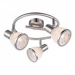 Спот GloboС 3 лампами<br>Артикул - GB_56041-3,Бренд - Globo (Австрия),Коллекция - Rachel,Гарантия, месяцы - 24,Диаметр, мм - 250,Размер упаковки, мм - 255x120x255,Тип лампы - светодиодная [LED],Общее кол-во ламп - 3,Напряжение питания лампы, В - 220,Максимальная мощность лампы, Вт - 4,Лампы в комплекте - светодиодные [LED] E14,Цвет плафонов и подвесок - неокрашенный с каймой,Тип поверхности плафонов - матовый, прозрачный,Материал плафонов и подвесок - акрил,Цвет арматуры - никель, хром,Тип поверхности арматуры - сатин,Материал арматуры - металл,Возможность подлючения диммера - нельзя,Тип цоколя лампы - E14,Класс электробезопасности - I,Общая мощность, Вт - 12,Степень пылевлагозащиты, IP - 20,Диапазон рабочих температур - комнатная температура,Дополнительные параметры - способ крепления светильника к стене и потолку - на монтажной пластине, поворотный светильник<br>