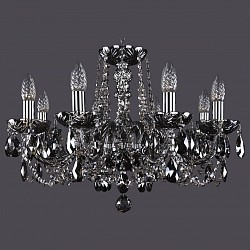 Подвесная люстра Bohemia Ivele CrystalБолее 6 ламп<br>Артикул - BI_1402_8_195_Ni_M781,Бренд - Bohemia Ivele Crystal (Чехия),Коллекция - 1402,Гарантия, месяцы - 24,Высота, мм - 400,Диаметр, мм - 570,Размер упаковки, мм - 450x450x200,Тип лампы - компактная люминесцентная [КЛЛ] ИЛИнакаливания ИЛИсветодиодная [LED],Общее кол-во ламп - 8,Напряжение питания лампы, В - 220,Максимальная мощность лампы, Вт - 40,Лампы в комплекте - отсутствуют,Цвет плафонов и подвесок - дымчатый черный,Тип поверхности плафонов - прозрачный,Материал плафонов и подвесок - хрусталь,Цвет арматуры - дымчатый черный, никель,Тип поверхности арматуры - глянцевый, прозрачный, рельефный,Материал арматуры - металл, стекло,Возможность подлючения диммера - можно, если установить лампу накаливания,Форма и тип колбы - свеча ИЛИ свеча на ветру,Тип цоколя лампы - E14,Класс электробезопасности - I,Общая мощность, Вт - 320,Степень пылевлагозащиты, IP - 20,Диапазон рабочих температур - комнатная температура,Дополнительные параметры - способ крепления светильника к потолку - на крюке, указана высота светильника без подвеса<br>