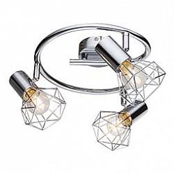 Спот GloboС 3 лампами<br>Артикул - GB_54802-3,Бренд - Globo (Австрия),Коллекция - Xara I,Гарантия, месяцы - 24,Диаметр, мм - 430,Размер упаковки, мм - 260х250х115,Тип лампы - компактная люминесцентная [КЛЛ] ИЛИнакаливания ИЛИсветодиодная [LED],Общее кол-во ламп - 3,Напряжение питания лампы, В - 220,Максимальная мощность лампы, Вт - 40,Лампы в комплекте - отсутствуют,Цвет плафонов и подвесок - хром,Тип поверхности плафонов - глянцевый, металлик,Материал плафонов и подвесок - металл,Цвет арматуры - хром,Тип поверхности арматуры - глянцевый, металлик,Материал арматуры - металл,Возможность подлючения диммера - можно, если установить лампу накаливания,Тип цоколя лампы - E14,Класс электробезопасности - I,Общая мощность, Вт - 120,Степень пылевлагозащиты, IP - 20,Диапазон рабочих температур - комнатная температура,Дополнительные параметры - поворотный светильник<br>