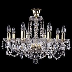 Подвесная люстра Bohemia Ivele CrystalБолее 6 ламп<br>Артикул - BI_1402_8_195_G_tube,Бренд - Bohemia Ivele Crystal (Чехия),Коллекция - 1402,Гарантия, месяцы - 24,Высота, мм - 400,Диаметр, мм - 570,Размер упаковки, мм - 450x450x200,Тип лампы - компактная люминесцентная [КЛЛ] ИЛИнакаливания ИЛИсветодиодная [LED],Общее кол-во ламп - 8,Напряжение питания лампы, В - 220,Максимальная мощность лампы, Вт - 40,Лампы в комплекте - отсутствуют,Цвет плафонов и подвесок - неокрашенный,Тип поверхности плафонов - прозрачный,Материал плафонов и подвесок - хрусталь,Цвет арматуры - золото, неокрашенный,Тип поверхности арматуры - глянцевый, прозрачный, рельефный,Материал арматуры - металл, стекло,Возможность подлючения диммера - можно, если установить лампу накаливания,Форма и тип колбы - свеча ИЛИ свеча на ветру,Тип цоколя лампы - E14,Класс электробезопасности - I,Общая мощность, Вт - 320,Степень пылевлагозащиты, IP - 20,Диапазон рабочих температур - комнатная температура,Дополнительные параметры - способ крепления светильника к потолку - на крюке, указана высота светильника без подвеса<br>
