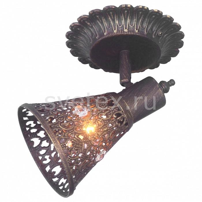 Спот FavouriteСпоты<br>Артикул - FV_1797-1W,Бренд - Favourite (Германия),Коллекция - Arabian Drim,Гарантия, месяцы - 24,Время изготовления, дней - 1,Длина, мм - 195,Ширина, мм - 135,Выступ, мм - 150,Тип лампы - компактная люминесцентная [КЛЛ] ИЛИнакаливания ИЛИсветодиодная [LED],Общее кол-во ламп - 1,Напряжение питания лампы, В - 220,Максимальная мощность лампы, Вт - 40,Лампы в комплекте - отсутствуют,Цвет плафонов и подвесок - коричневый с золотой патиной, неокрашенный,Тип поверхности плафонов - матовый, прозрачный,Материал плафонов и подвесок - металл, хрусталь,Цвет арматуры - коричневый,Тип поверхности арматуры - матовый, рельефный,Материал арматуры - металл,Количество плафонов - 1,Возможность подлючения диммера - можно, если установить лампу накаливания,Тип цоколя лампы - E14,Класс электробезопасности - I,Степень пылевлагозащиты, IP - 20,Диапазон рабочих температур - комнатная температура,Дополнительные параметры - поворотный светильник<br>