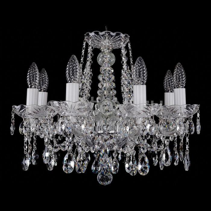 Фото Подвесная люстра Bohemia Ivele Crystal 1413 1413/8/165/Ni