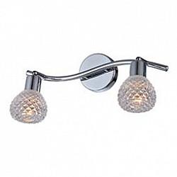 Спот GloboС 2 лампами<br>Артикул - GB_541006-2,Бренд - Globo (Австрия),Коллекция - 541006,Гарантия, месяцы - 24,Тип лампы - компактная люминесцентная [КЛЛ] ИЛИнакаливания ИЛИсветодиодная [LED],Общее кол-во ламп - 2,Напряжение питания лампы, В - 220,Максимальная мощность лампы, Вт - 40,Лампы в комплекте - отсутствуют,Цвет плафонов и подвесок - неокрашенный,Тип поверхности плафонов - прозрачный, рельефный,Материал плафонов и подвесок - стекло,Цвет арматуры - хром,Тип поверхности арматуры - глянцевый, металлик,Материал арматуры - металл,Возможность подлючения диммера - можно, если установить лампу накаливания,Тип цоколя лампы - E14,Класс электробезопасности - I,Общая мощность, Вт - 80,Степень пылевлагозащиты, IP - 20,Диапазон рабочих температур - комнатная температура,Дополнительные параметры - поворотный светильник<br>