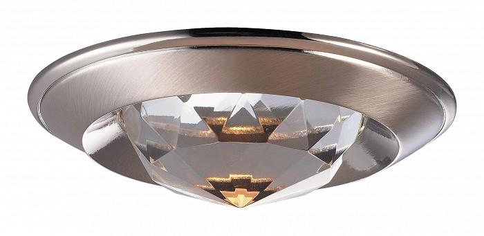 Встраиваемый светильник NovotechХрустальные<br>Артикул - NV_369426,Бренд - Novotech (Венгрия),Коллекция - Glam,Гарантия, месяцы - 24,Время изготовления, дней - 1,Глубина, мм - 20,Диаметр, мм - 80,Размер врезного отверстия, мм - 65,Тип лампы - галогеновая ИЛИсветодиодная [LED],Общее кол-во ламп - 1,Напряжение питания лампы, В - 12,Максимальная мощность лампы, Вт - 50,Лампы в комплекте - отсутствуют,Цвет плафонов и подвесок - неокрашенный,Тип поверхности плафонов - прозрачный, рельефный,Материал плафонов и подвесок - хрусталь,Цвет арматуры - никель,Тип поверхности арматуры - глянцевый,Материал арматуры - алюминиевое литье,Количество плафонов - 1,Возможность подлючения диммера - можно, если установить галогеновую лампу,Форма и тип колбы - полусферическая с рефлектором ИЛИполусферическая с радиатором,Тип цоколя лампы - GX5.3,Экономичнее лампы накаливания - на 50%,Класс электробезопасности - III,Напряжение питания, В - 220,Степень пылевлагозащиты, IP - 20,Диапазон рабочих температур - комнатная температура,Дополнительные параметры - возможна установка лампы GX5.3 (MR-16) на 12 В с подключением через трансформатор 12 В<br>