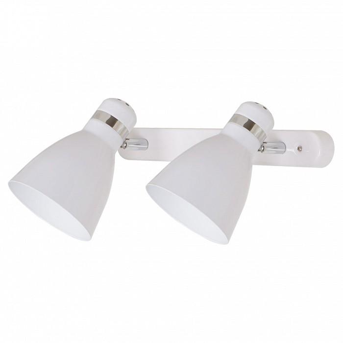 Спот Arte LampСпоты<br>Артикул - AR_A5049AP-2WH,Бренд - Arte Lamp (Италия),Коллекция - Mercoled,Гарантия, месяцы - 24,Длина, мм - 380,Ширина, мм - 170,Выступ, мм - 150,Тип лампы - компактная люминесцентная [КЛЛ] ИЛИнакаливания ИЛИсветодиодная [LED],Общее кол-во ламп - 2,Напряжение питания лампы, В - 220,Максимальная мощность лампы, Вт - 60,Лампы в комплекте - отсутствуют,Цвет плафонов и подвесок - белый,Тип поверхности плафонов - матовый,Материал плафонов и подвесок - металл,Цвет арматуры - белый, хром,Тип поверхности арматуры - глянцевый, матовый,Материал арматуры - металл,Количество плафонов - 2,Возможность подлючения диммера - можно, если установить лампу накаливания,Тип цоколя лампы - E27,Класс электробезопасности - I,Общая мощность, Вт - 120,Степень пылевлагозащиты, IP - 20,Диапазон рабочих температур - комнатная температура,Дополнительные параметры - способ крепления светильника к стене и потолку - на монтажной пластине, повоторный светильник<br>