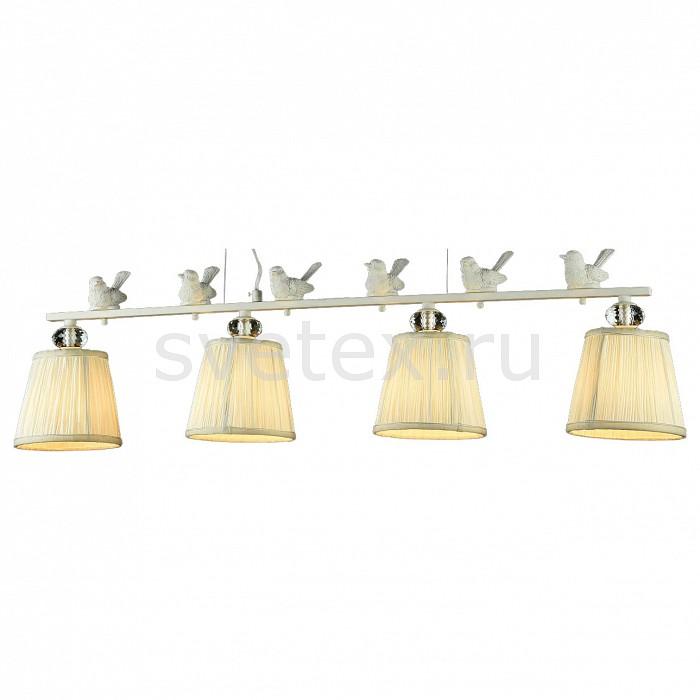 Подвесная люстра MaytoniСветильники<br>Артикул - MY_ARM012-04-W,Бренд - Maytoni (Германия),Коллекция - Flitter,Гарантия, месяцы - 24,Длина, мм - 940,Ширина, мм - 150,Высота, мм - 260,Диаметр, мм - 150,Тип лампы - компактная люминесцентная [КЛЛ] ИЛИнакаливания ИЛИсветодиодная [LED],Общее кол-во ламп - 4,Напряжение питания лампы, В - 220,Максимальная мощность лампы, Вт - 40,Лампы в комплекте - отсутствуют,Цвет плафонов и подвесок - бежевый,Тип поверхности плафонов - матовый,Материал плафонов и подвесок - органза,Цвет арматуры - белый, неокрашенный,Тип поверхности арматуры - матовый,Материал арматуры - металл, стекло,Количество плафонов - 4,Возможность подлючения диммера - можно, если установить лампу накаливания,Тип цоколя лампы - E14,Класс электробезопасности - I,Общая мощность, Вт - 160,Степень пылевлагозащиты, IP - 20,Диапазон рабочих температур - комнатная температура,Дополнительные параметры - способ крепления светильника к потолку – на монтажной пластине, декоративный элемент: птички<br>