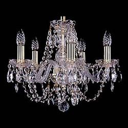 Подвесная люстра Bohemia Ivele Crystal5 или 6 ламп<br>Артикул - BI_1406_5_141_G,Бренд - Bohemia Ivele Crystal (Чехия),Коллекция - 1406,Гарантия, месяцы - 24,Высота, мм - 340,Диаметр, мм - 440,Размер упаковки, мм - 450x450x200,Тип лампы - компактная люминесцентная [КЛЛ] ИЛИнакаливания ИЛИсветодиодная [LED],Общее кол-во ламп - 5,Напряжение питания лампы, В - 220,Максимальная мощность лампы, Вт - 40,Лампы в комплекте - отсутствуют,Цвет плафонов и подвесок - неокрашенный,Тип поверхности плафонов - прозрачный,Материал плафонов и подвесок - хрусталь,Цвет арматуры - золото, неокрашенный,Тип поверхности арматуры - глянцевый, прозрачный,Материал арматуры - металл, стекло,Возможность подлючения диммера - можно, если установить лампу накаливания,Форма и тип колбы - свеча,Тип цоколя лампы - E14,Класс электробезопасности - I,Общая мощность, Вт - 200,Степень пылевлагозащиты, IP - 20,Диапазон рабочих температур - комнатная температура,Дополнительные параметры - способ крепления светильника к потолку – на крюке<br>
