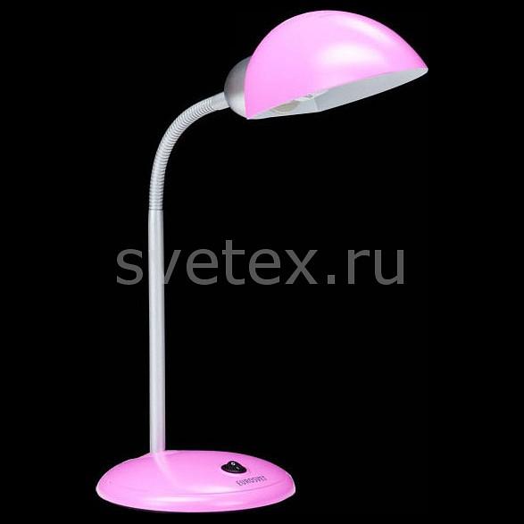 Настольная лампа EurosvetСветильники<br>Артикул - EV_62376,Бренд - Eurosvet (Китай),Коллекция - 1926,Гарантия, месяцы - 24,Ширина, мм - 180,Высота, мм - 660,Выступ, мм - 180,Тип лампы - компактная люминесцентная [КЛЛ] ИЛИсветодиодная [LED],Общее кол-во ламп - 1,Напряжение питания лампы, В - 220,Максимальная мощность лампы, Вт - 15,Лампы в комплекте - отсутствуют,Цвет плафонов и подвесок - розовый,Тип поверхности плафонов - матовый,Материал плафонов и подвесок - полимер,Цвет арматуры - розовый, хром,Тип поверхности арматуры - глянцевый, матовый,Материал арматуры - металл, полимер,Количество плафонов - 1,Наличие выключателя, диммера или пульта ДУ - выключатель,Компоненты, входящие в комплект - провод электропитания с вилкой без заземления,Тип цоколя лампы - E27,Класс электробезопасности - II,Степень пылевлагозащиты, IP - 20,Диапазон рабочих температур - комнатная температура,Дополнительные параметры - поворотный светильник<br>