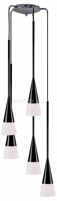 Подвесной светильник LightstarБарные<br>Артикул - LS_804257,Бренд - Lightstar (Италия),Коллекция - Conicita,Гарантия, месяцы - 24,Время изготовления, дней - 1,Высота, мм - 650-2650,Диаметр, мм - 310,Тип лампы - компактная люминесцентная [КЛЛ] ИЛИнакаливания ИЛИсветодиодная [LED],Общее кол-во ламп - 5,Напряжение питания лампы, В - 220,Максимальная мощность лампы, Вт - 40,Лампы в комплекте - отсутствуют,Цвет плафонов и подвесок - белый,Тип поверхности плафонов - матовый,Материал плафонов и подвесок - стекло,Цвет арматуры - черный,Тип поверхности арматуры - глянцевый,Материал арматуры - металл,Количество плафонов - 5,Возможность подлючения диммера - можно, если установить лампу накаливания,Тип цоколя лампы - E14,Класс электробезопасности - I,Общая мощность, Вт - 200,Степень пылевлагозащиты, IP - 20,Диапазон рабочих температур - комнатная температура<br>