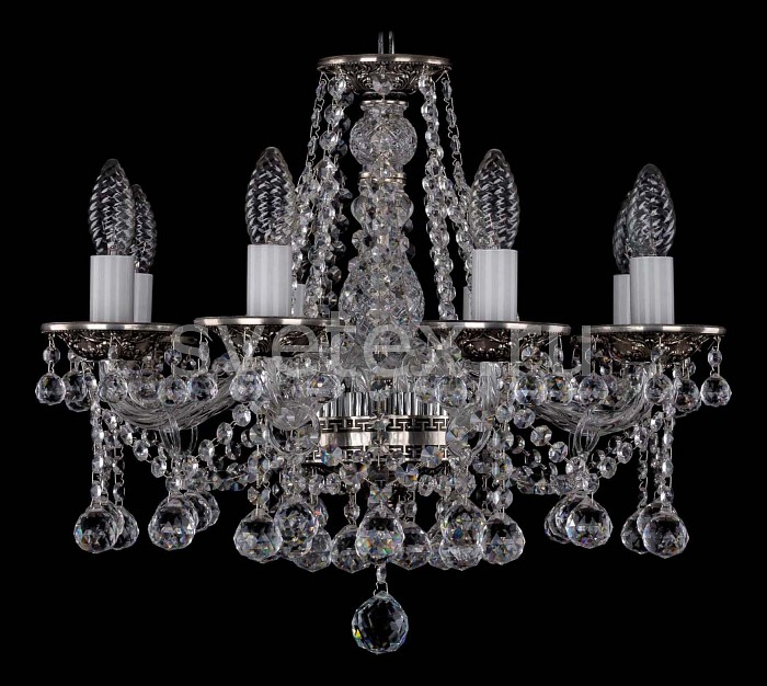 Фото Подвесная люстра Bohemia Ivele Crystal 1613 1613/8/165/NB/Balls